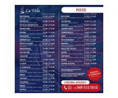 MENU PIZZA FAMIGLIA 25 EURO